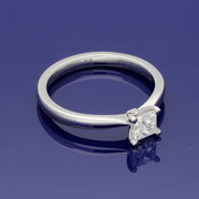 Platinum 0.49ct Certificated Princess Cut Solitaire Diamond Engagement Ring