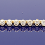 9ct Yellow Gold Diamond Line Bracelet
