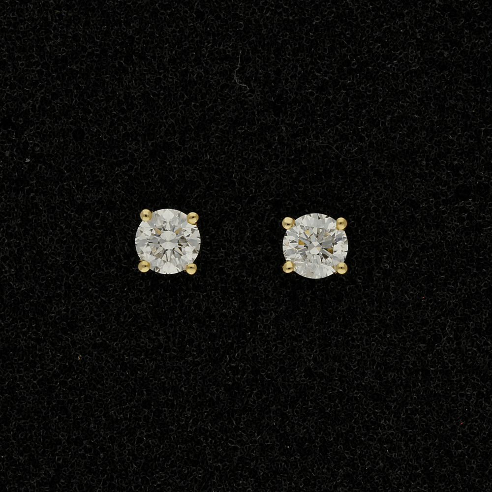 18ct Yellow Gold 1.13ct Diamond Stud Earrings