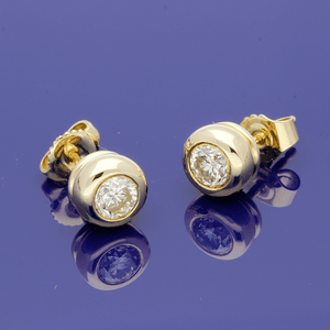 18ct Yellow Gold 1.04ct Diamond Stud Earrings