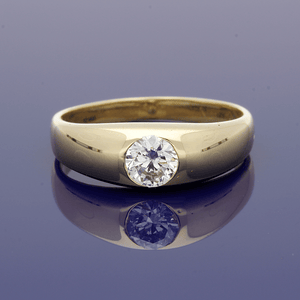 18ct Yellow Gold Diamond 0.45ct Gypsy Ring
