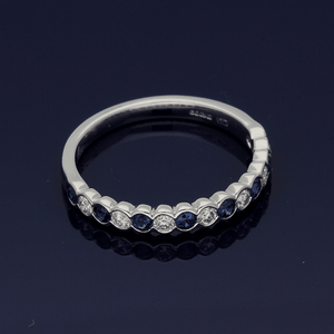 18ct White Gold Sapphire & Diamond Eternity Ring