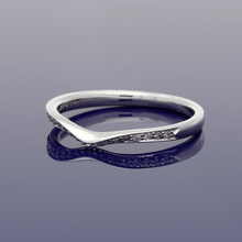 Platinum & Diamond Curve Shaped Eternity Ring