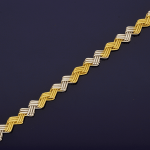 18ct White & Yellow Gold Zig-Zag Bracelet