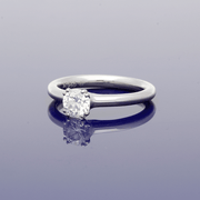 Platinum 0.70ct Certificated Diamond Solitaire Engagement Ring