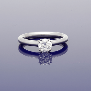 Platinum 0.70ct Diamond Solitaire Ring