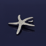 18ct White Gold Diamond Starfish Pendant
