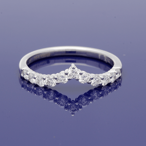 Platinum Wishbone Diamond Eternity Ring
