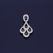 18ct White Gold Sapphire & Diamond Peacock Pendant