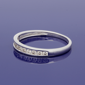 9ct White Gold Channel Set Diamond Half Eternity Ring