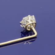 18ct Yellow Gold Edwardian Stick Pin with 1ct Old Cut Diamond