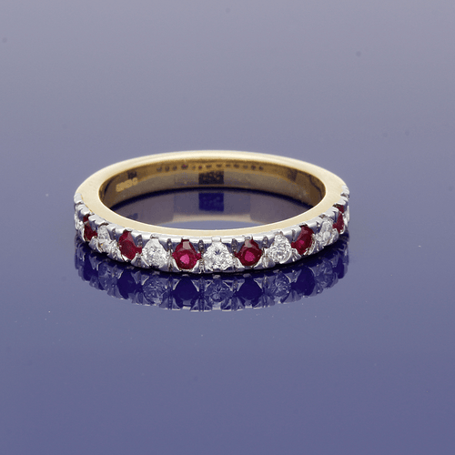 18ct Yellow Gold Ruby & Diamond Eternity Ring