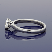 Platinum Heart Shape 0.57ct Diamond Solitaire Engagement Ring - Certificated