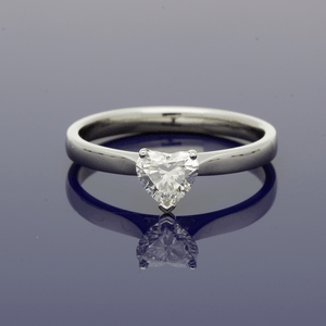 Platinum & Heart Shape Diamond 0.57ct Solitaire Ring