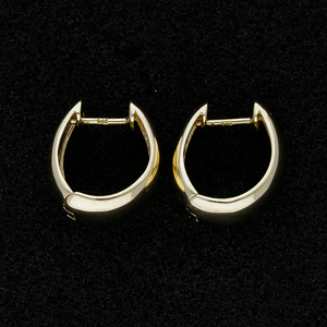 9ct Yellow Gold Huggie Hoop Earrings
