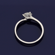 Platinum Diamond 0.70ct Solitaire Twist Ring