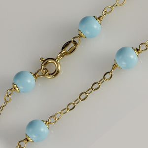 18ct Yellow Gold Turquoise Bracelet