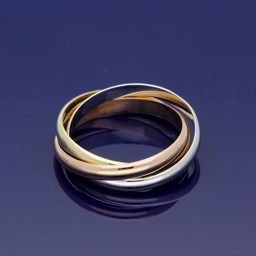 14ct Russian Wedding 3-Colour Ring