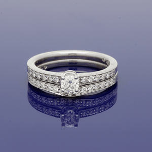 18ct White Gold Diamond Bridal Set