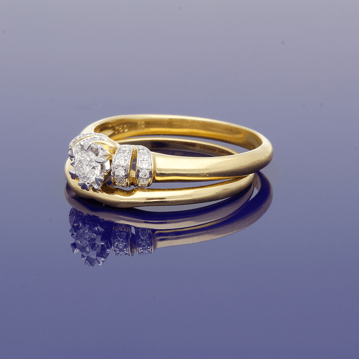 18ct Yellow Gold Diamond Bridal Set