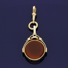 15ct Bloodstone and Cornelian Seal Fob Pendant