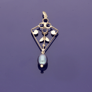 9ct Rose Gold Pearl Vintage Pendant