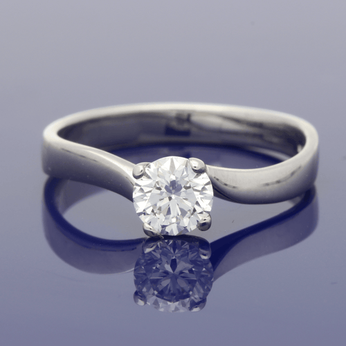 Platinum Internally Flawless Round Brilliant Cut Diamond Ring