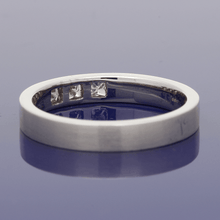 18ct White Gold Diamond-Set 3.2mm Flat Court Wedding Ring
