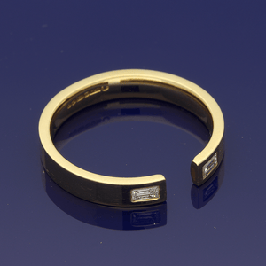 18ct Yellow Gold Horseshoe Shaped Wedding Ring