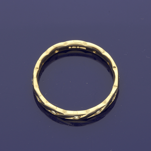 18ct Yellow Gold & Diamond Twisted Band