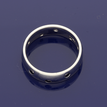 Platinum Black Diamond-Set 5mm Court Ring