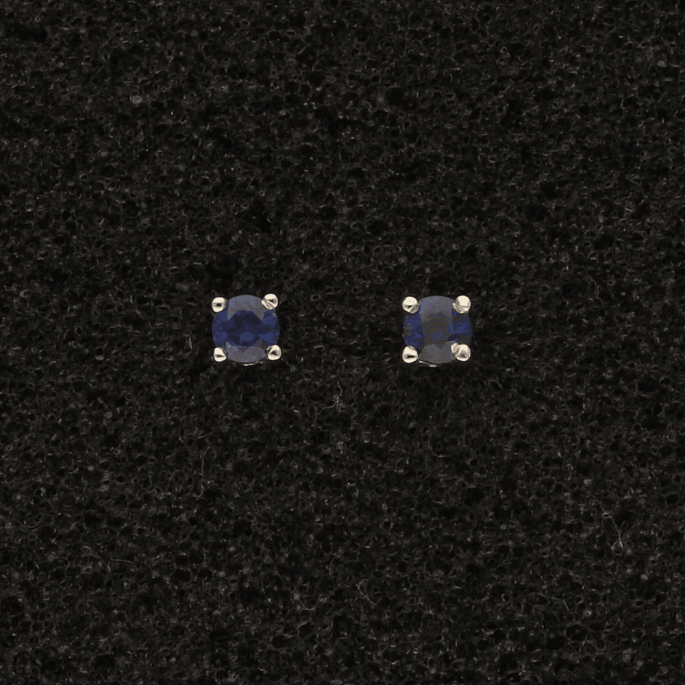 18ct White Gold Sapphire 2.5mm Studs