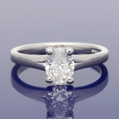 Platinum Certificated 1.01ct Oval Diamond Solitaire Engagement Ring