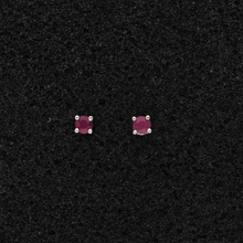18ct White Gold Ruby 2.5mm Stud Earrings