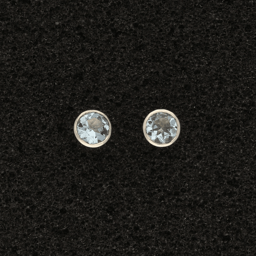 18ct White Gold Aquamarines Stud Earrings