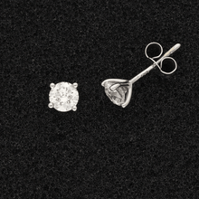 18ct White Gold Certificated 1ct Diamond Stud Earrings