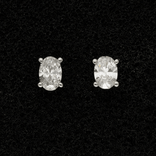18ct White Gold Oval Cut 0.75ct Diamond Stud Earrings
