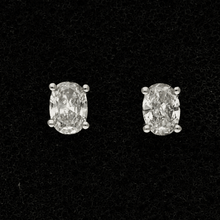 18ct White Gold Oval Cut 1.00ct Diamond Stud Earrings