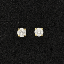 18ct Yellow Gold Diamond 0.77ct Stud Earrings