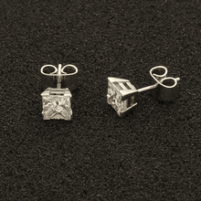 18ct White Gold 2ct Princess Cut Diamond Studs
