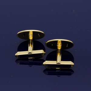 18ct Yellow Gold Oval Cufflinks