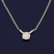 18ct White Gold Diamond 0.71ct Necklace