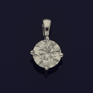 18ct White Gold 1.49ct Diamond Solitaire Pendant