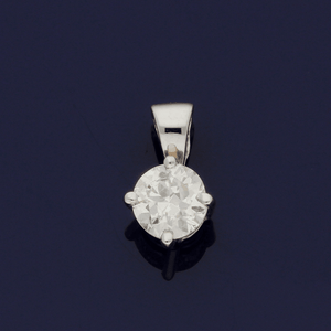 18ct White Gold 0.36ct Diamond Pendant