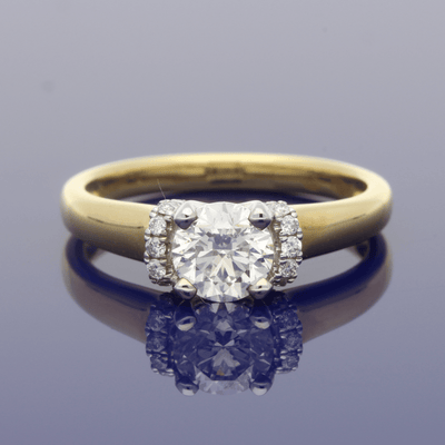 18ct Yellow Gold 0.81ct Certificated Diamond Engagement Ring