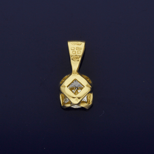 18ct Yellow Gold 0.38ct Diamond Pendant