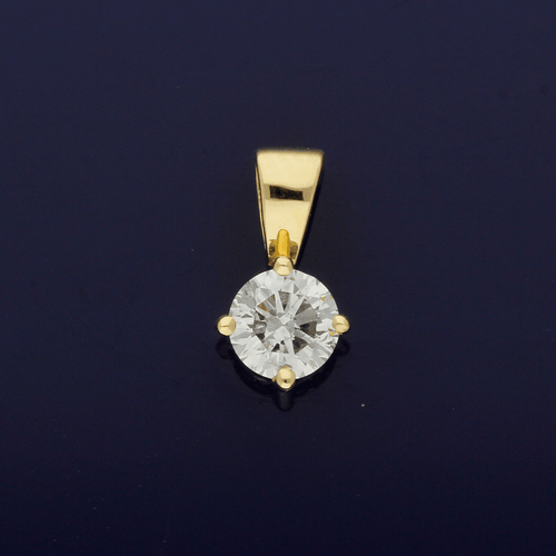 18ct Yellow Gold 0.31ct Diamond Pendant