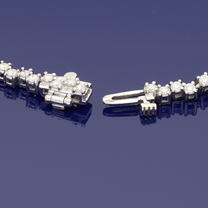 18ct White Gold Diamond 2ct Line Bracelet