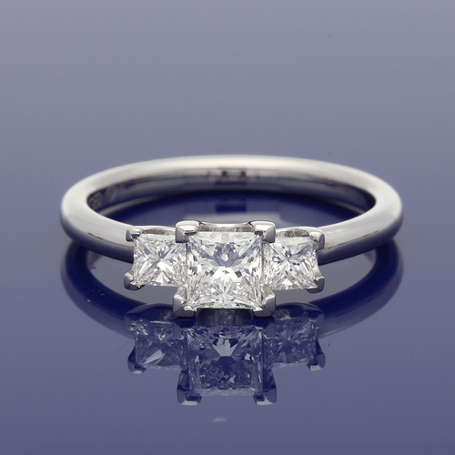 Platinum Princess Cut Diamond Trilogy