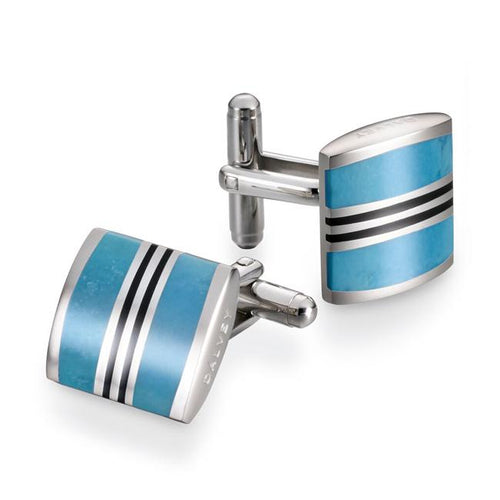 Dalvey Admiralty Cufflinks - Turquoise